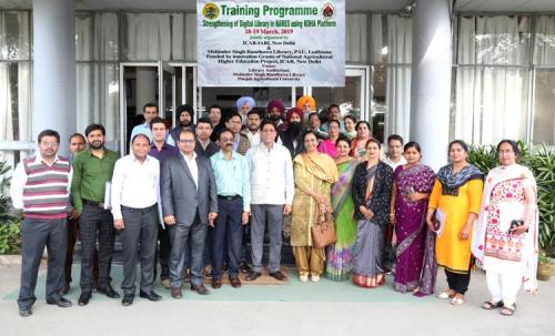 Training programme at Punjab Agricultural University, Ludhiana during 18th-19th March 2019