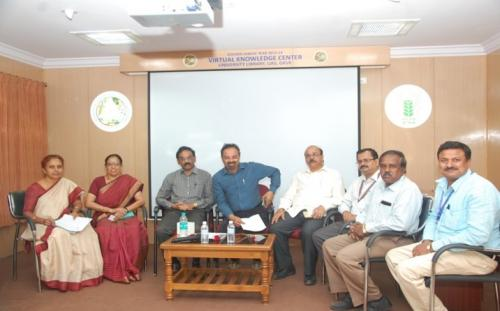 """User Awareness Programme on """"e-Resource in Agriculture""""  at University Library, UAS, GKVK, Bangalore on 07th March 2019"""