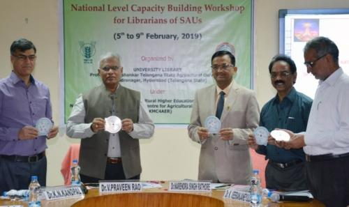 National Level Capacity Building Workshop for Librarians of SAUs  Organized by University Library, PJTSAU, Hyderabad from 5th to 9th February, 2019